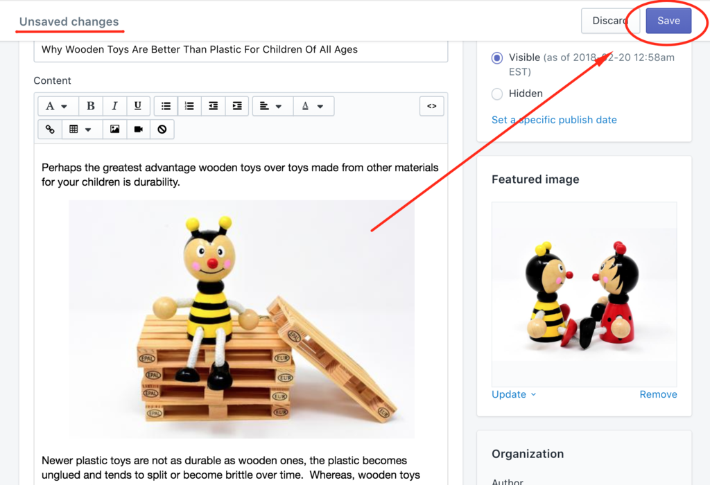 Shopify fix image alt text on blog posts save